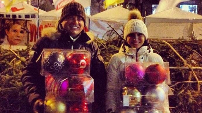 украшения Новогодняя Майдановская елка фото