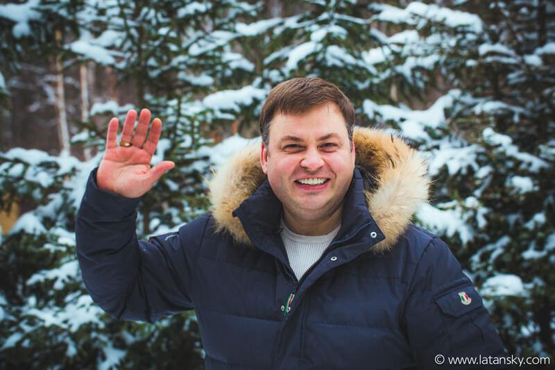 Николай Латанский поздравляет с рождеством своих читателей. Фото