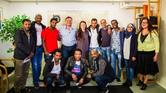 Тренинг для беженцев в Швеции картинка